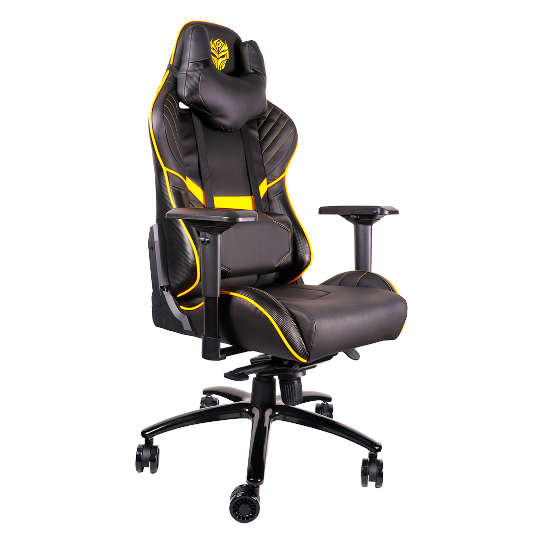 Gaming Chair Rexus RGC 103 Yellow Front View