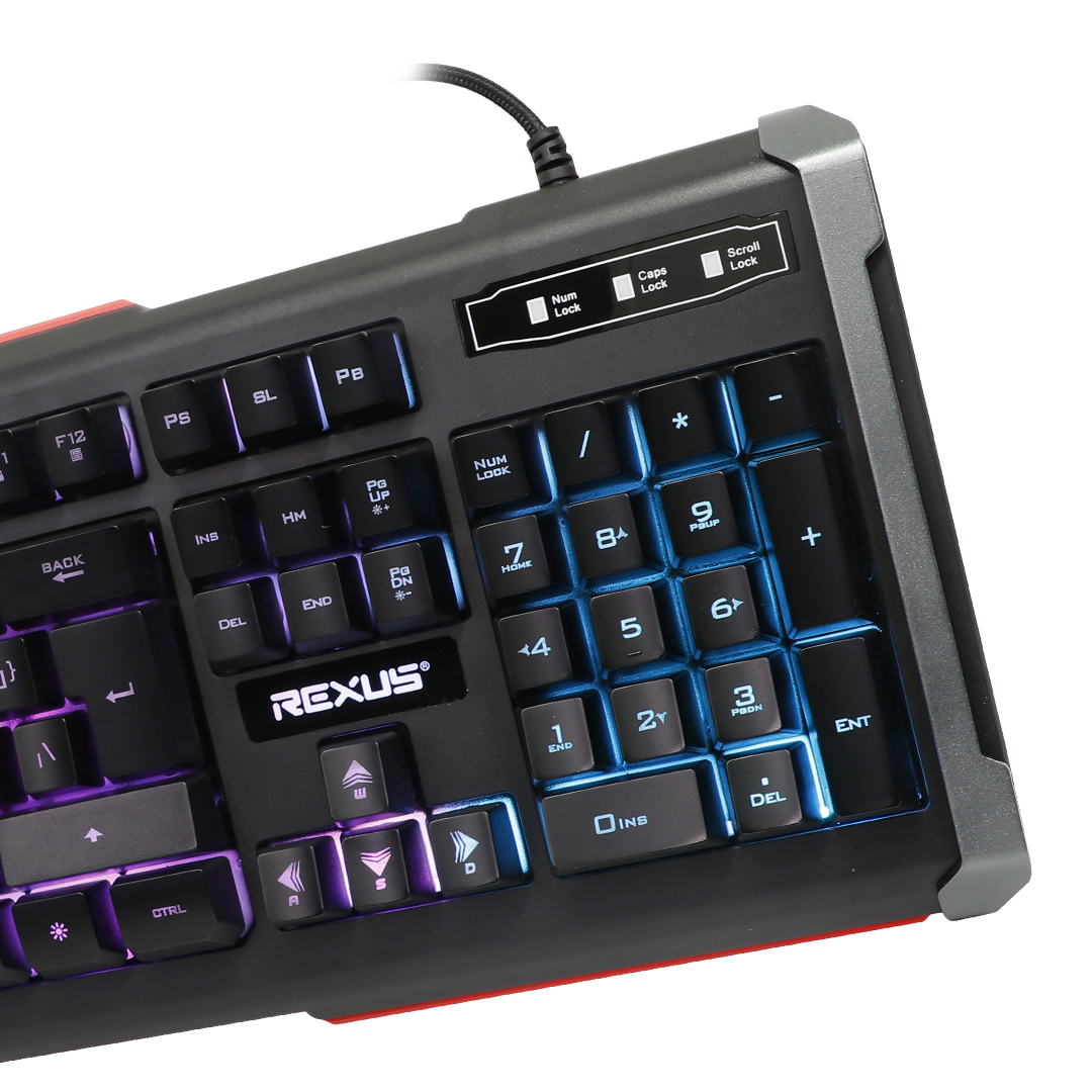 Keyboard Gaming Rexus Battlefire K9SE Second Colour Macro