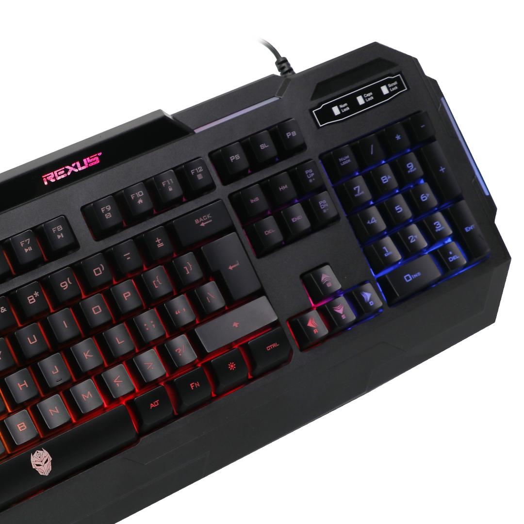 Keyboard Gaming Rexus K71 Side View Closeup