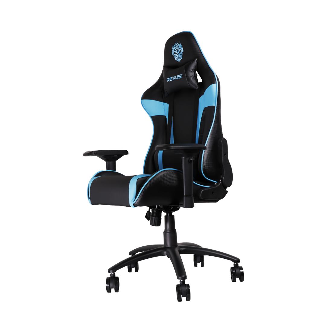 rgc111 serong kiri kursi gaming Rexus Gaming Chair RGC 111 RGC 111 Blue 02