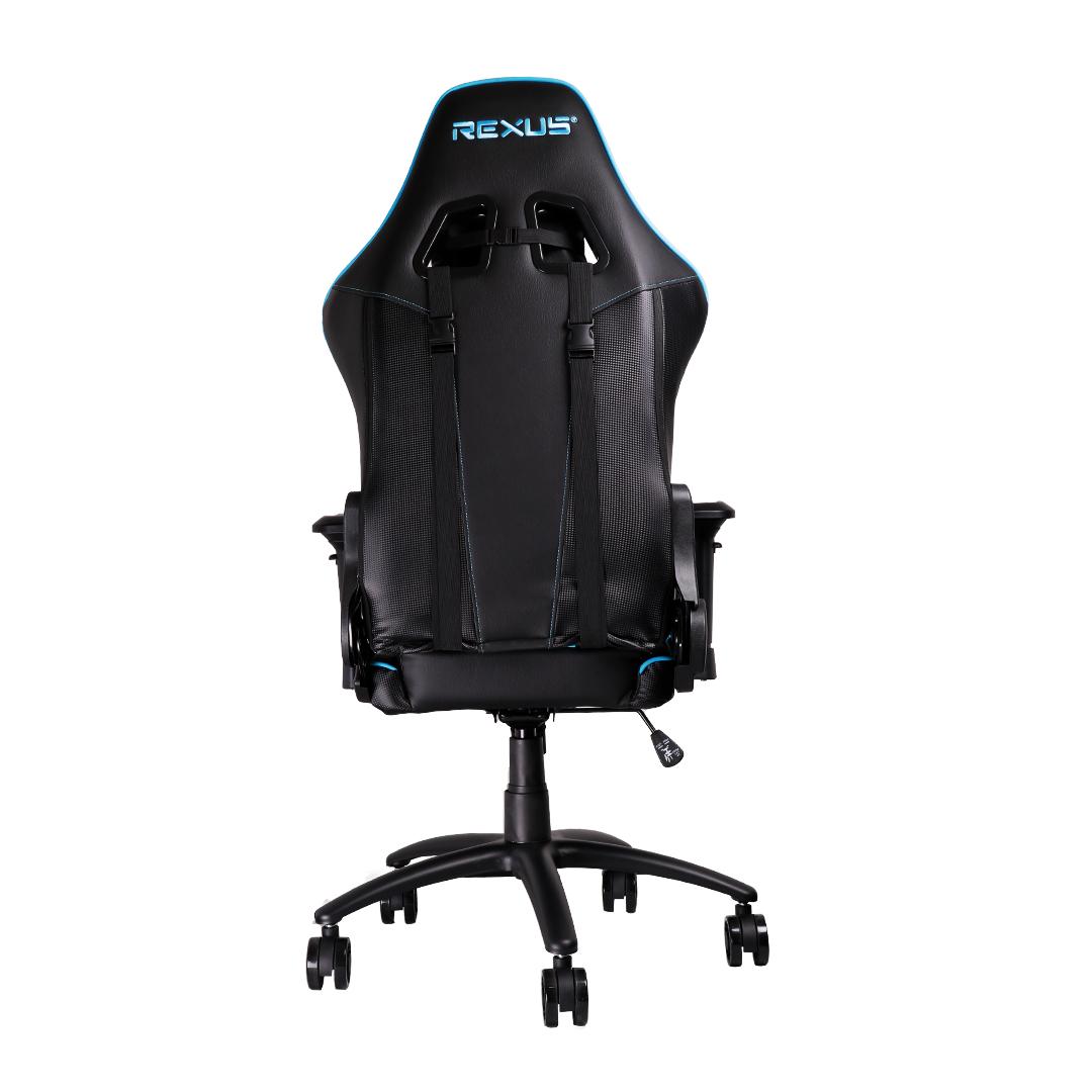 rgc111 biru belakang kursi gaming Rexus Gaming Chair RGC 111 RGC 111 Blue 03