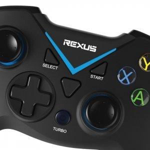 Gamepad Wireless Rexus Gladius X100 Closeup bluetooth Koneksi Peralatan Gaming Pakai Bluetooth Atau Wireless Frekuensi Radio. Mana yang Lebih Baik? GX100 03 300x300