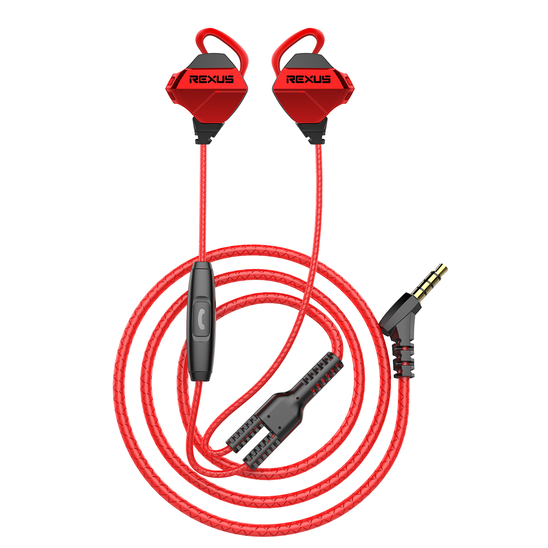 Gaming Earphone Rexus Vonix ME1 Red