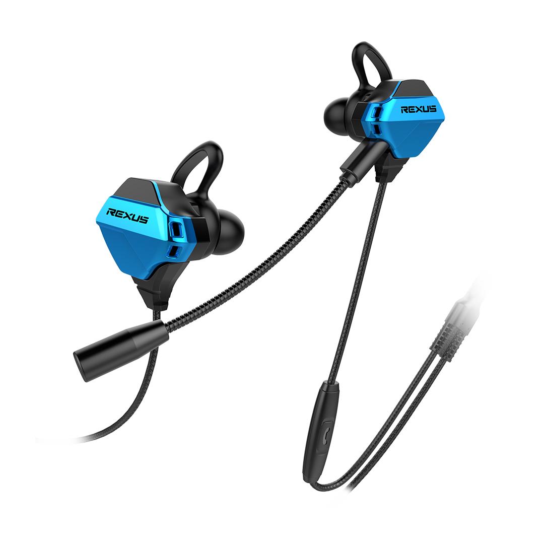 Earphone Rexus Vonix ME1 Blue Microphone