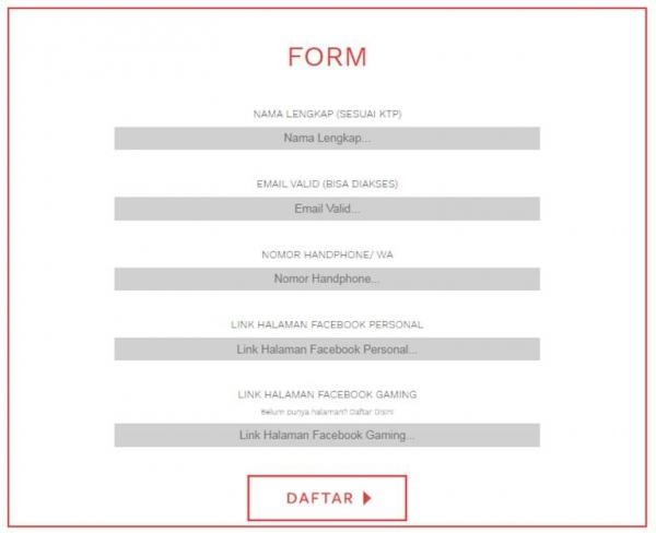 Form Daftar