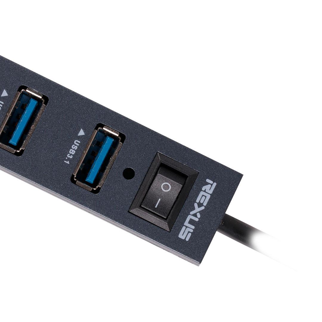Manual Switch usb hub Rexus RXH 327 – USB HUB Super Speed H327 1