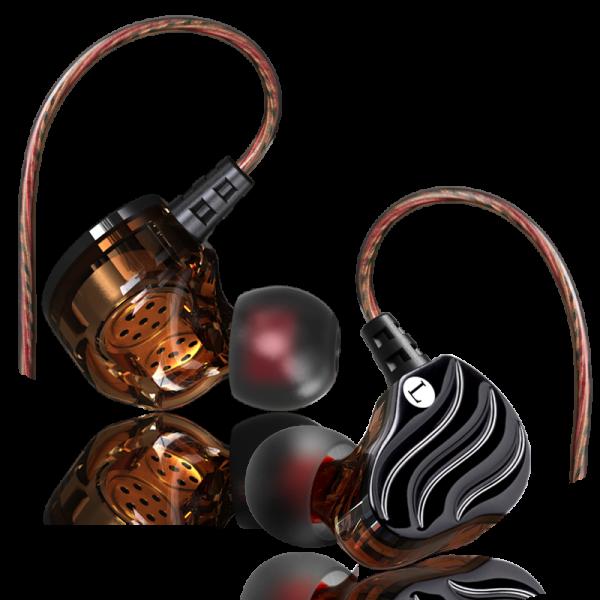 dual driver earphone ez1 black earphone Rexus EZ1 004 600x600
