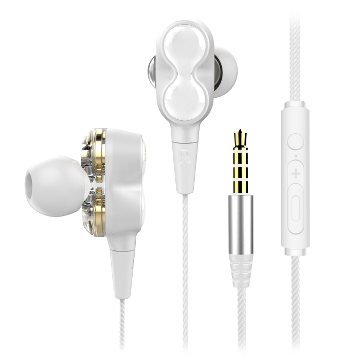 dual driver earphone ep3 white  Audio WL EP3 03 1  Audio WL EP3 03 1