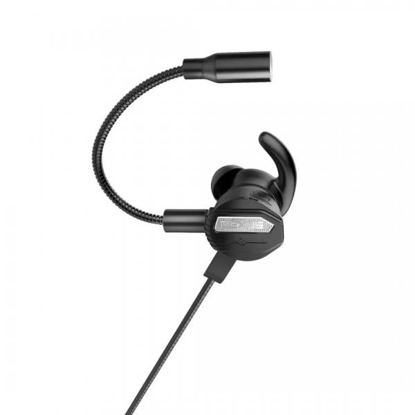 flexible mic black gaming earphone Rexus Vonix ME3 ME 3 07 600x600