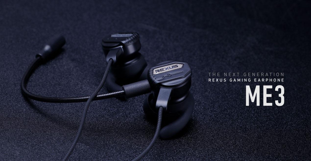 gaming earphone Rexus Vonix ME3 ME3 Webabanner 1270x660