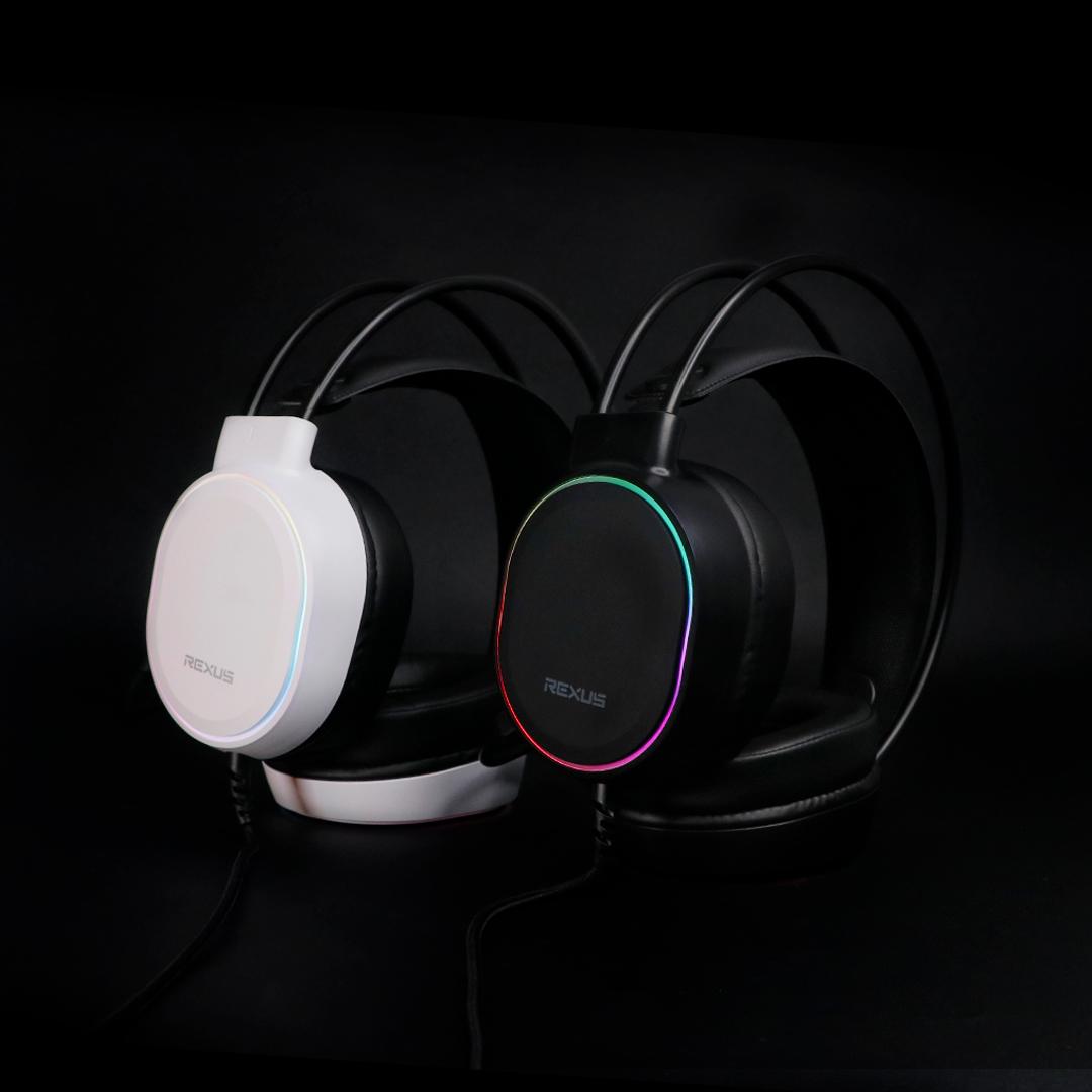 thundervox hx9 black and white headset gaming Rexus Thundervox HX9 HX9 05 1