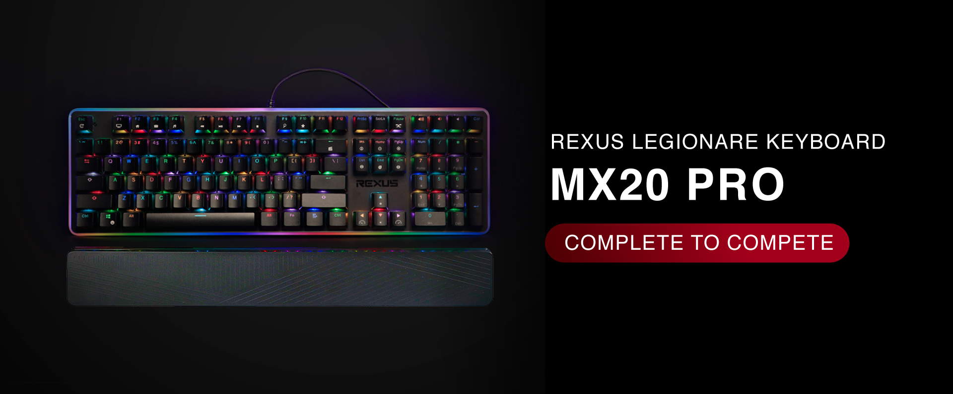 MX20 keyboard Rexus Legionare MX20 banner page